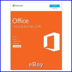 2 Microsoft Office Home and Business 2016 Windows English PC Key Card T5D-02776