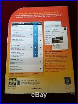 BRAND NEW! Microsoft Office Home and Business 2010 Word Excel Powerpoint SEALED