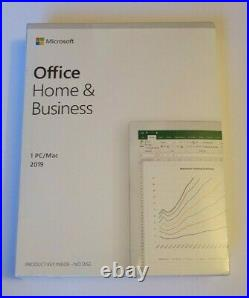 BRAND NEW Microsoft Office Home and Business 2019 PC or MAC