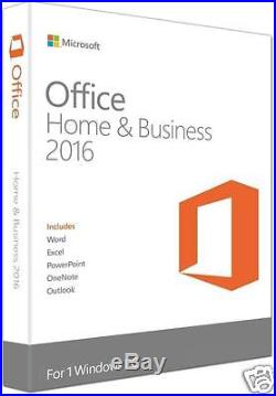 Brand New Microsoft Office 2016 Home and Business Windows English PC Key Card