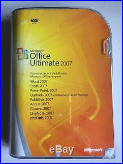 GENUINE MS Microsoft Office 2007 Ultimate Full Version Retail box NEW & SEALED