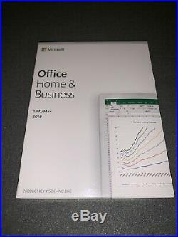 MICROSOFT OFFICE 2019 Home & Business for 1 PC / Mac (T5D-03216) NEW & SEALED