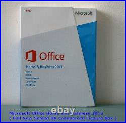 MICROSOFT OFFICE HOME AND BUSINESS 2013 New Sealed Retail Boxed (T5D-01574)