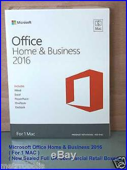 Microsoft Office Mac Home And Business 2016 New Sealed Boxed (w6f-00550)