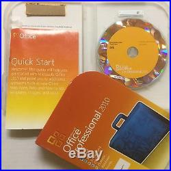 Microsoft Office Professional 2010 Retail Box 32/64 269-14964 2pc Activation