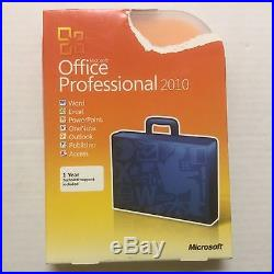 Microsoft Office Professional 2010 Retail Box Disc Sku- 269-14964 2pc Activation