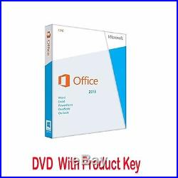 MICROSOFT OFFICE PROFESSIONAL 2013 for WINDOWS LIFETIME LICENCE COA AND DVD
