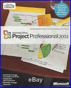 Microsoft Office Project Professional 2003 Retail H30-00979 New Sealed