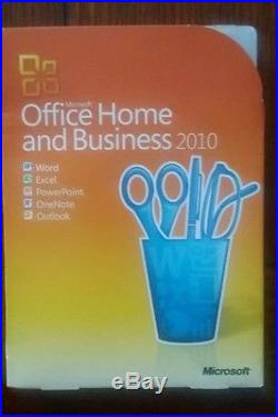 MS Microsoft Office 2010 Home and Business Licensed For 3 PCs Full Retail Box
