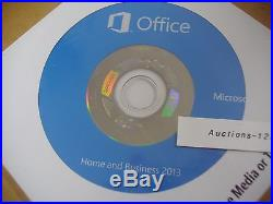 MS Microsoft Office 2013 Home and Business Full English Version DVD