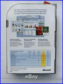 Microsoft Office 2007 Professional Retail (License + Media), Lot Of 5