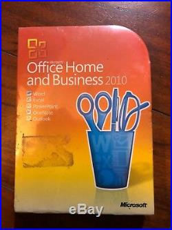 Microsoft Office 2010 Home and Business For 2 PCs Retail Version SEALED