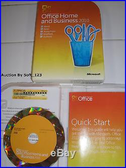 Microsoft Office 2010 Home and Business Licensed For 2 PCs Full Retail =NEW BOX=