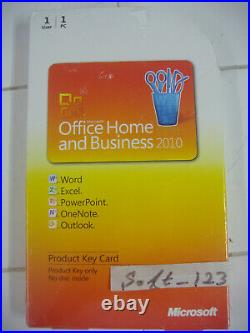 Microsoft Office 2010 Home and Business Product Key Card (PKC) Lifetime License