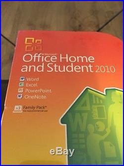 Microsoft Office 2010 Home and Student For 3PCs Retail Box New