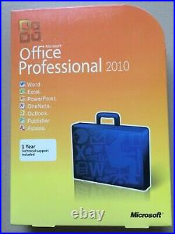 Microsoft Office 2010 Professional For 3 PCs NEW Full Retail SEALED Box Version