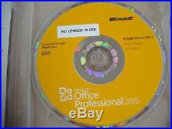 Microsoft Office 2010 Professional Licensed for 2 PCs Full English withDVD MS Pro