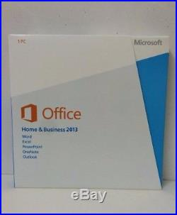 Microsoft Office 2013 Home and Business 32bit & 64bit for Windows 1PC