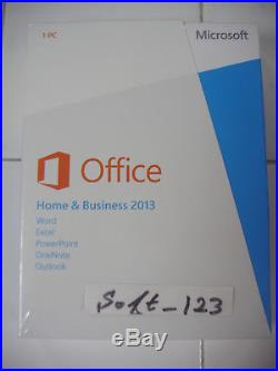 Microsoft Office 2013 Home and Business Product Key Card Full Retail=SEALED BOX=