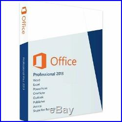 Microsoft Office 2013 Professional Retail Sealed 3 PC (FPP)