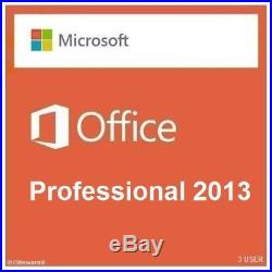Microsoft Office 2013 Professional Retail Sealed 3 USER