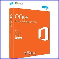 Microsoft Office 2016 Home & Business 1 Pc Office Suite Medialess Box Pc
