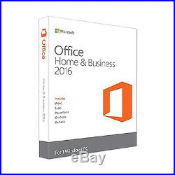 Microsoft Office 2016 Home and Business 1 PC Brand New Sealed! T5D-02375