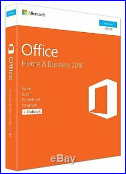 Microsoft Office 2016 Home and Business 32-bit/x64 Eurozone Medialess NEW Win