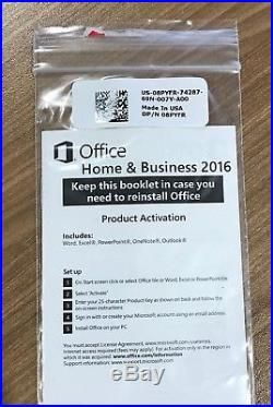 Microsoft Office 2016 Home and Business for Windows PC's