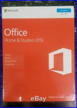 Microsoft Office 2016 Home and Student Edition (BRAND NEW)