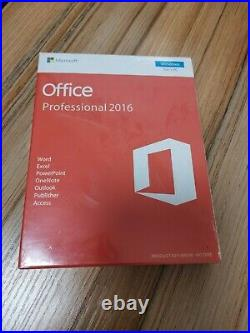 Microsoft Office 2016 Professional 32/64bit For 1PC Product Key Card Download