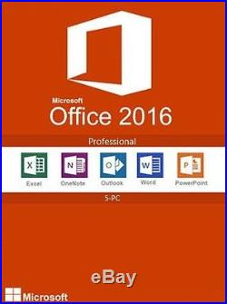 Microsoft Office 2016 Professional with 5 User CALs Full Retail Media FPP