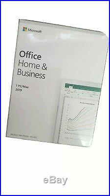 Microsoft Office 2019 Home & Business Retail box SEALED & NEW
