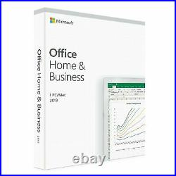 Microsoft Office 2019 Home and Busines PKC Vollversion Retail