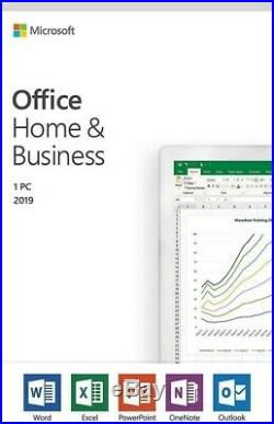 Microsoft Office 2019 Home and Business Retail 1 PC Windows/Mac