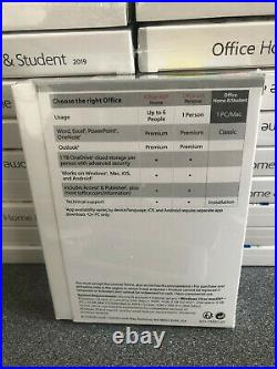 Microsoft Office 2019 Home and Student Boxed Windows PC Retail NEW