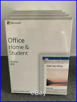 Microsoft Office 2019 Home and Student Medialess Windows PC Retail NEW