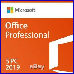 Microsoft Office 2019 Professional 5 PC (RETAIL SEALED)