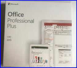 Microsoft Office 2019 Professional Plus Full Version Retail Package Genuine 1PC