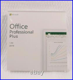 Microsoft Office 2019 Professional Plus Retail DVD for 1PC Sealed
