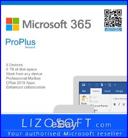 Microsoft Office 365 Pro Plus Complete Package & Fully Sealed