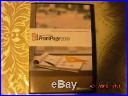 Microsoft Office Front Page 2003, Full Retail Version, SKU 392-02321