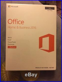 Microsoft Office Home & Buisness Full Version With Outlook. Mac Only