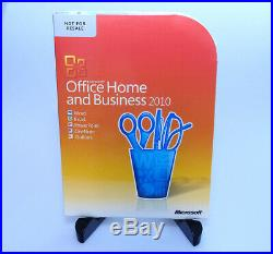 Microsoft Office Home & Business 2010 GENUINE sealed NEW Win 7 8 10