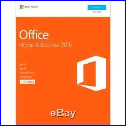 Microsoft Office Home Business 2016, 1 PC (Product Key Card)