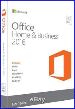 Microsoft Office Home & Business 2016 (License Only) (1) Full Version for Mac