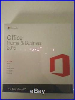 Microsoft Office Home & Business 2016 (Retail) (1)-Full Version for Windows