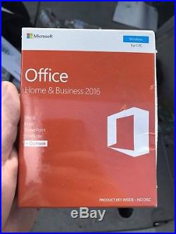 Microsoft Office Home & Business 2016 (Retail) (1) Full Version for Windows