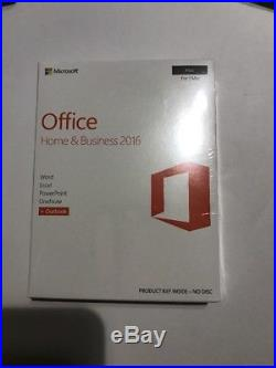 Microsoft Office Home & Business 2016 Sku-W6F-01022 for 1 mac new sealed