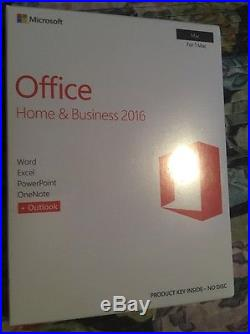 Microsoft Office Home & Business 2016 for 1 Mac Brand New Factory Sealed Key